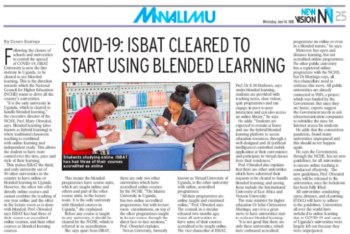 Covid-19: ISBAT University Cleared to Start Using Blended Learning Platform